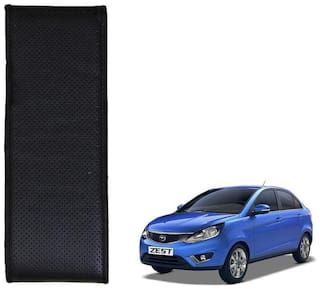 Kozdiko Black Leatherite Steering Cover Stitchable Punched For Tata Zest