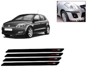 Kozdiko Black & Red Bumper Protector Guard 4 pc For Volkswagen Polo