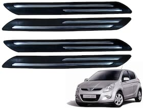 Kozdiko Black Double Chrome Bumper Protector 4 pc For Hyundai i20