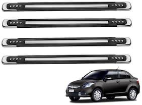Kozdiko Black Designer Dotted Bumper Protector 4 pc For Maruti Suzuki Swift Dzire New