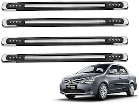 Kozdiko Black Designer Dotted Bumper Protector 4 pc For Toyota Etios