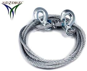 Kozdiko Car 6 Ton Tow Rope Towing Cable 4 m for Mahindra TUV-300