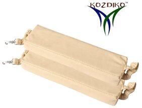 Kozdiko Car Seat Gap Filler Beige Color Set of 2 Pcs for Fiat Palio