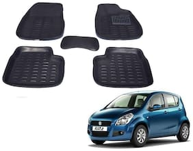 Kozdiko Car 3D Mats Foot mat Black Color for Maruti Suzuki Ritz