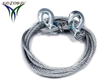 Kozdiko Car 6 Ton Tow Rope Towing Cable 4 m for Toyota Innova Crysta