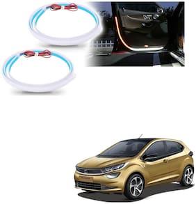 Kozdiko Car 2 Pcs 120 Cm Door Opening Warning LED Strips Welcome Decor Lamp Strips Safety Light For Tata Altroz