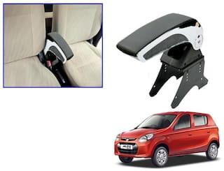 Kozdiko Car Armrest Plain Chrome Black RMA53 Maruti Alto 800