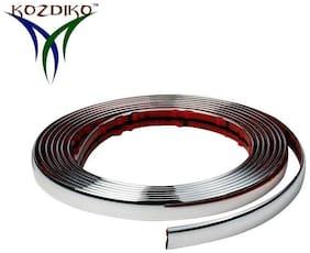 Kozdiko Car Chrome Beading Roll 10MM 20 Mtr For for Ford Fiesta
