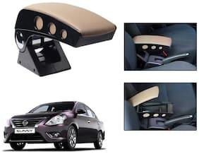 Kozdiko Car Armrest Round Chrome Beige RMA42 Nissan Sunny