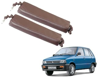 Kozdiko Car Seat Gap Filler Brown Color Set of 2 pc for Maruti Suzuki 800