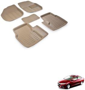 Kozdiko Car 3D Mats Foot mat for Honda City new 2018