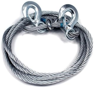 Kozdiko Car Auto Steel Tow Cable Rope 6 Ton 10 mm Heavy Duty 4 m