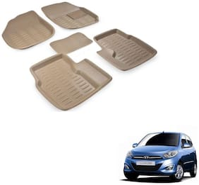 Kozdiko Car 3D Mats Foot mat for Hyundai I10