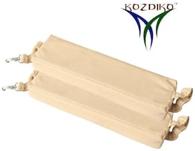 Kozdiko Car Seat Gap Filler Beige Color Set of 2 pc for Honda Amaze