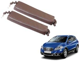 Kozdiko Car Seat Gap Filler Brown Color Set of 2 pc for Maruti Suzuki S-Cross