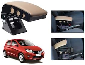 Kozdiko Car Armrest Round Chrome Beige RMA66 Maruti Celerio