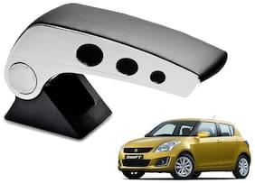 Kozdiko Car Armrest Round Chrome Black RMA57 Maruti New Swift