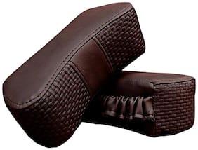 Kozdiko CV Designer Maroon Neck Leatherite Car Pillow Cushion Kit 2 pc for Mahindra Bolero