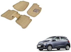 Kozdiko Premium Quality 3D Mats for Hyundai i10 Grand(Beige)