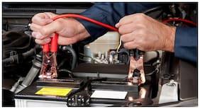 Kozdiko Premium Quality Car 500Amp Heavy Duty Copper Core Tangle Booster 7.5 Ft Battery Jumper Cable for Maruti Suzuki WagonR