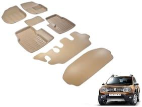 Kozdiko Premium 3D mats foot mats Beige color set of 6 pcs Renault Duster with Diggy