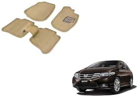 Kozdiko Premium Quality 3D Mats for Honda City(Beige)