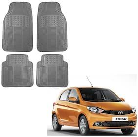 Kozdiko Premium Quality 4 pc Simple Rubber Grey Car Mat For Tata Tiago