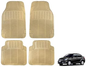Kozdiko Premium Quality 4 pc Simple Rubber Beige Car Mat For Maruti Suzuki Swift Dzire New