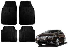 Kozdiko Premium Heavy Duty Simple Rubber Black Car Mat For Honda City ZX
