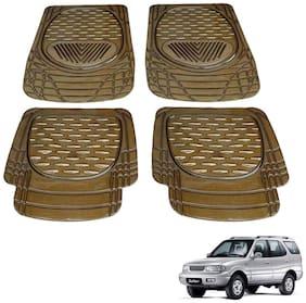 Kozdiko Premium Heavy Duty 4 pc PVC Rubber 6204 Smoke Car Mat For Tata Safari Storme
