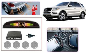 Kozdiko Reverse Car Parking Sensor Silver Color 4 Sensors for Hyundai Verna Fluidic