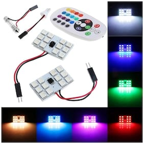 Kozdiko RGB 12 LED Roof Light with IR Remote Car Interior Roof for Ford Fiesta