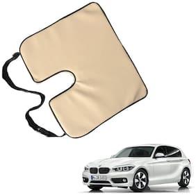 Kozdiko Seat Rest Beige Leatherite Car Pillow Cushion Kit 1 pc for Toyota Etios Cross