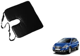 Kozdiko Seat Rest Black Leatherite Car Pillow Cushion Kit 1 pc for Tata Zest