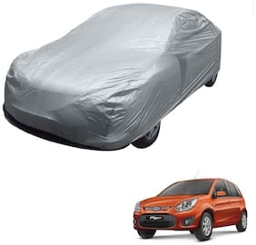 Kozdiko Silver Matty Car Body Cover with Buckle Belt For Ford Old Figo (2009-2014)
