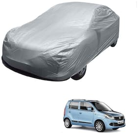 Kozdiko Silver Matty Car Body Cover with Buckle Belt For Maruti Suzuki Old WagonR (2000-2010)