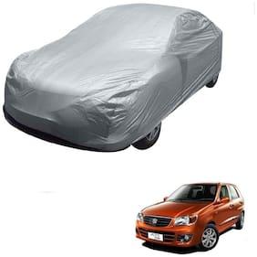 Kozdiko Silver Matty Car Body Cover with Buckle Belt For Maruti Suzuki Alto K10