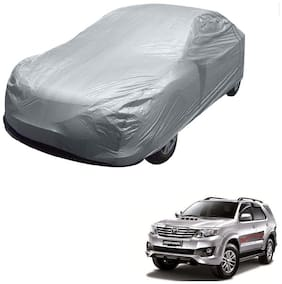 Kozdiko Silver Matty Car Body Cover with Buckle Belt For Toyota Old Fortuner