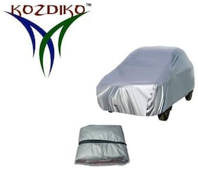 Kozdiko Silver Matty body cover with buckle belt for Maruti Suzuki Swift Dzire