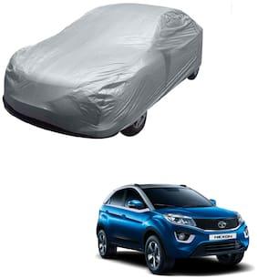 Kozdiko Silver Matty Car Body Cover with Buckle Belt For Tata Nexon