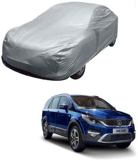 Kozdiko Silver Matty Car Body Cover with Buckle Belt For Tata Hexa