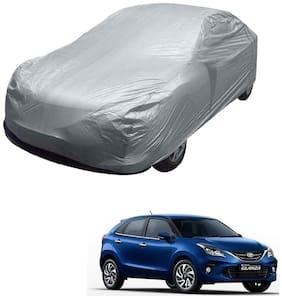 Kozdiko Silver Matty Car Body Cover with Buckle Belt For Toyota Glanza
