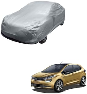 Kozdiko Silver Matty Car Body Cover with Buckle Belt For Tata Altroz