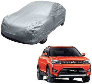 Kozdiko Silver Matty Car Body Cover with Buckle Belt For Mahindra XUV 300