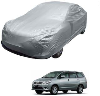 Kozdiko Silver Matty Car Body Cover with Buckle Belt For Toyota Innova