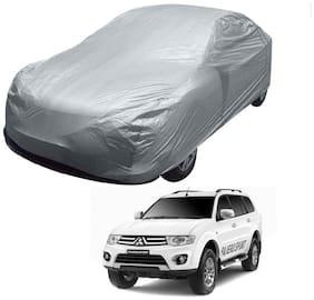 Kozdiko Silver Matty Car Body Cover with Buckle Belt For Mitsubishi Pajero Sport