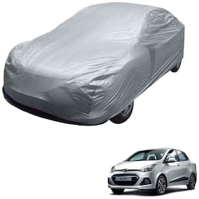 Kozdiko Silver Matty Car Body Cover with Buckle Belt For Hyundai Xcent