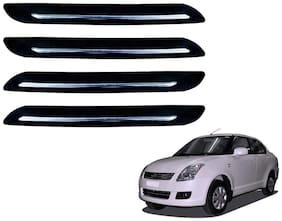 Kozdiko Single Chrome Black Bumper Protector 4 pc For Maruti Suzuki Swift Dzire