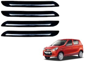Kozdiko Single Chrome Black Bumper Protector 4 pc For Maruti Suzuki Alto 800