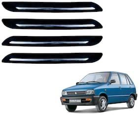 Kozdiko Single Chrome Black Bumper Protector 4 pc For Maruti Suzuki 800